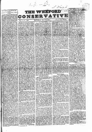 cover page of Wexford Conservative published on May 27, 1837