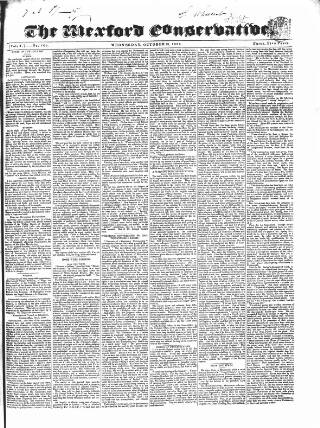 cover page of Wexford Conservative published on October 23, 1839