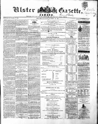cover page of Ulster Gazette published on October 19, 1861