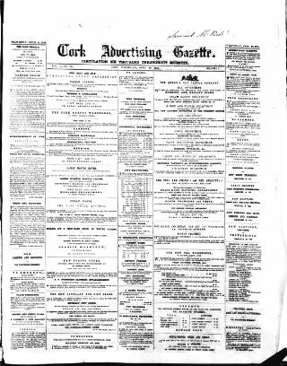 cover page of Cork Advertising Gazette published on April 20, 1859