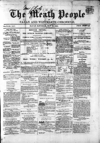 cover page of Meath People, and Cavan and Westmeath Chronicle published on May 26, 1860