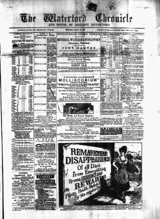 cover page of Waterford Chronicle published on December 18, 1889