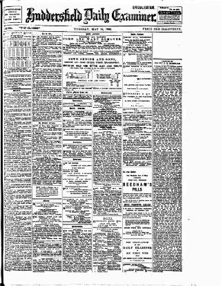 cover page of Huddersfield Daily Examiner published on May 16, 1905