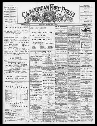 cover page of Glamorgan Free Press published on July 17, 1897