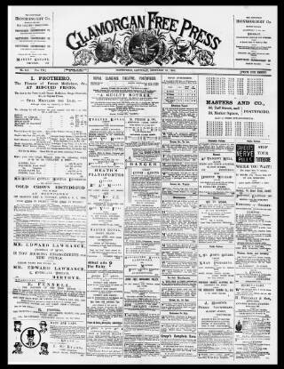 cover page of Glamorgan Free Press published on February 19, 1898