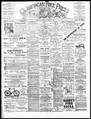 cover page of Glamorgan Free Press published on March 4, 1899