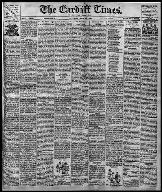 cover page of Cardiff Times published on May 19, 1894