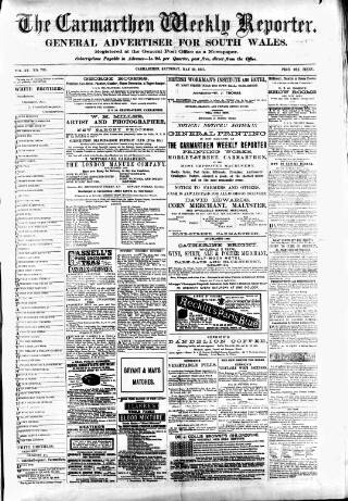 cover page of Carmarthen Weekly Reporter published on May 22, 1875