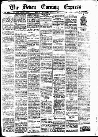cover page of Express and Echo published on June 3, 1899