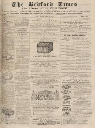 cover page of Bedfordshire Times and Independent published on May 18, 1872