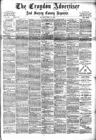 cover page of Croydon Advertiser and East Surrey Reporter published on May 16, 1891
