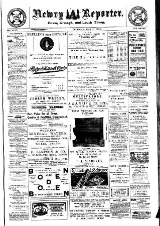 cover page of Newry Reporter published on July 17, 1902