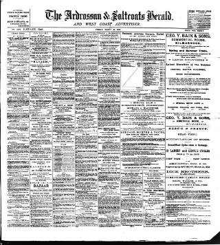 cover page of Ardrossan and Saltcoats Herald published on March 21, 1902