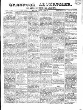 cover page of Greenock Advertiser published on May 9, 1868