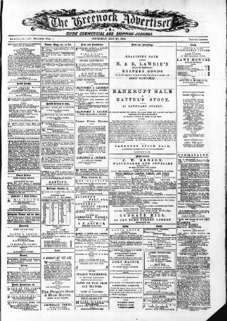 cover page of Greenock Advertiser published on May 27, 1880