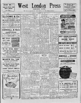 cover page of Chelsea News and General Advertiser published on March 19, 1943