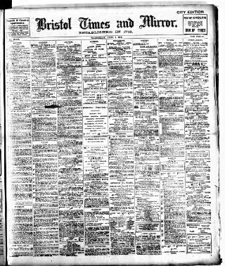 cover page of Bristol Times and Mirror published on June 1, 1910