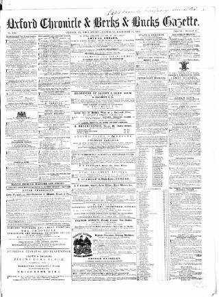 cover page of Oxford Chronicle and Reading Gazette published on December 16, 1865