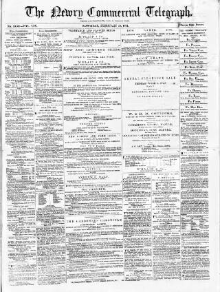 cover page of Newry Telegraph published on February 18, 1871