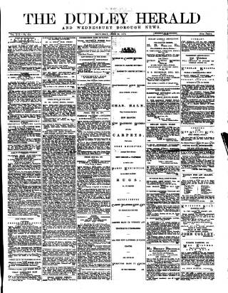 cover page of Dudley Herald published on June 28, 1879