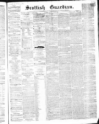 cover page of Scottish Guardian, Glasgow published on July 22, 1856