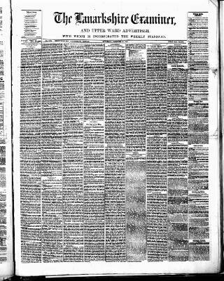 cover page of Lanarkshire Upper Ward Examiner published on February 19, 1881
