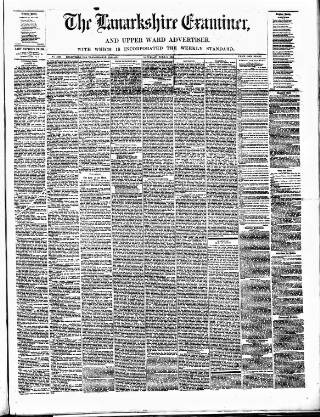 cover page of Lanarkshire Upper Ward Examiner published on June 4, 1881