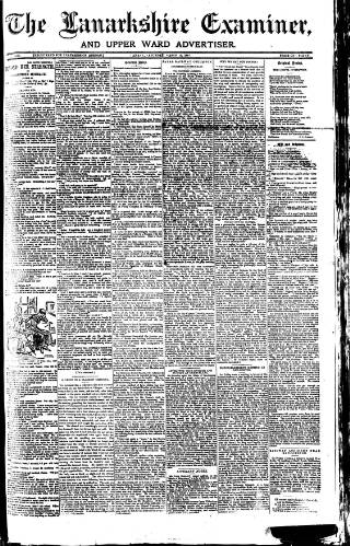 cover page of Lanarkshire Upper Ward Examiner published on March 19, 1887