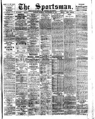 cover page of The Sportsman published on September 20, 1909