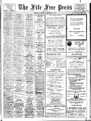 cover page of Fife Free Press, & Kirkcaldy Guardian published on December 15, 1951