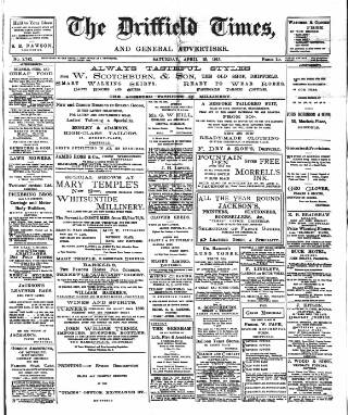 cover page of Driffield Times published on April 19, 1913