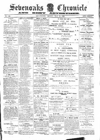 cover page of Sevenoaks Chronicle and Kentish Advertiser published on May 18, 1888