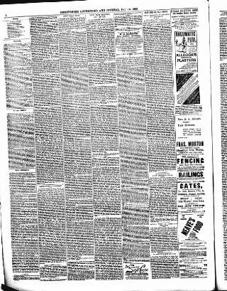 cover page of Derbyshire Advertiser and Journal published on December 16, 1892