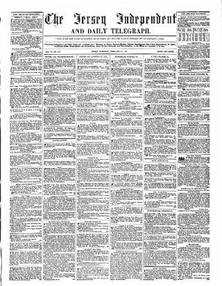 cover page of Jersey Independent and Daily Telegraph published on February 19, 1859