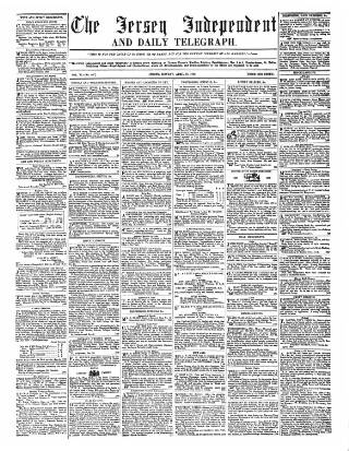 cover page of Jersey Independent and Daily Telegraph published on April 18, 1859