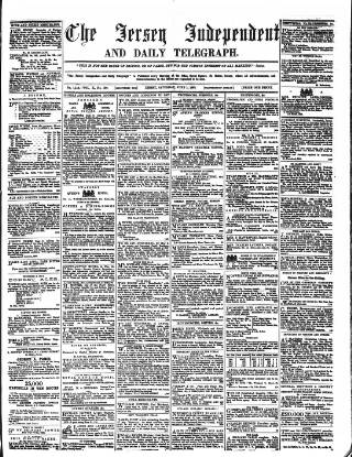 cover page of Jersey Independent and Daily Telegraph published on June 1, 1861