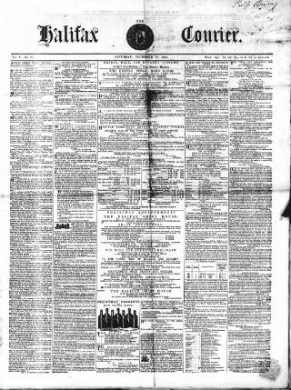 cover page of Halifax Courier published on December 17, 1853