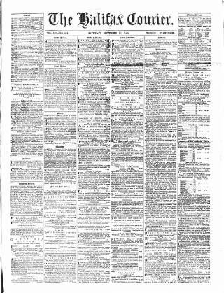 cover page of Halifax Courier published on September 19, 1868