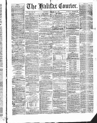 cover page of Halifax Courier published on February 20, 1869