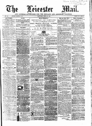 cover page of Leicester Mail published on April 20, 1867