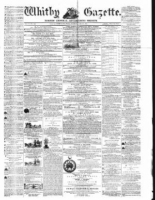 cover page of Whitby Gazette published on July 22, 1865