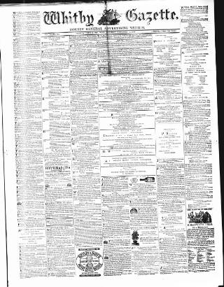 cover page of Whitby Gazette published on December 11, 1869