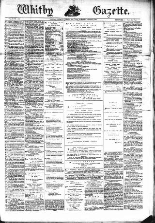 cover page of Whitby Gazette published on March 19, 1887