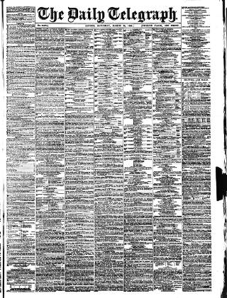 cover page of Daily Telegraph & Courier (London) published on March 26, 1898