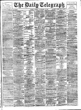 cover page of Daily Telegraph & Courier (London) published on December 16, 1907