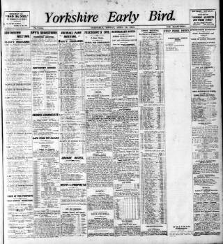 cover page of Yorkshire Early Bird published on April 18, 1910