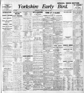 cover page of Yorkshire Early Bird published on July 19, 1910