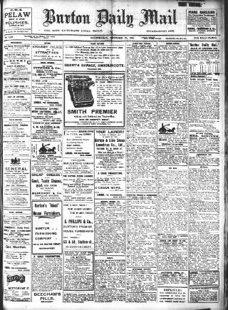 cover page of Burton Daily Mail published on October 27, 1915