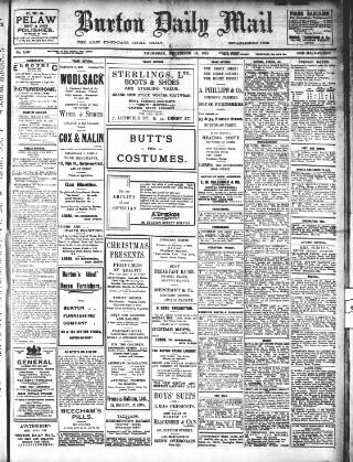 cover page of Burton Daily Mail published on December 16, 1915