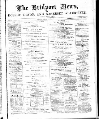 cover page of Bridport News published on May 27, 1887